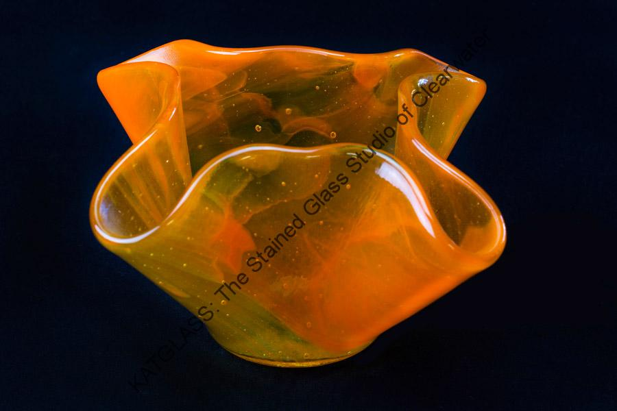 Slumped Glass Bowl Tarpon Springs Florida
