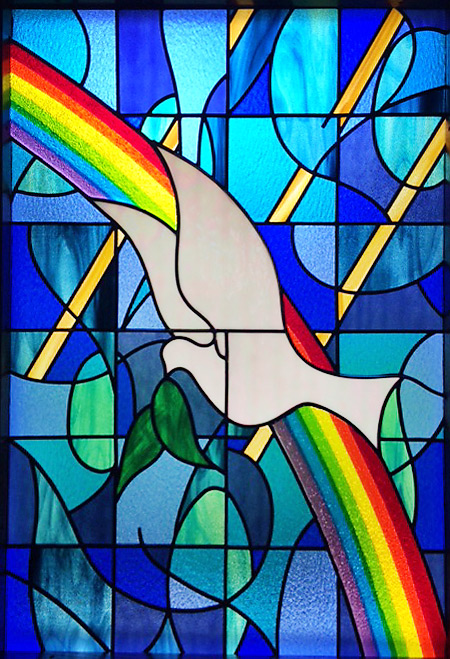 Dove Stained Glass Window Church of Christ Science
