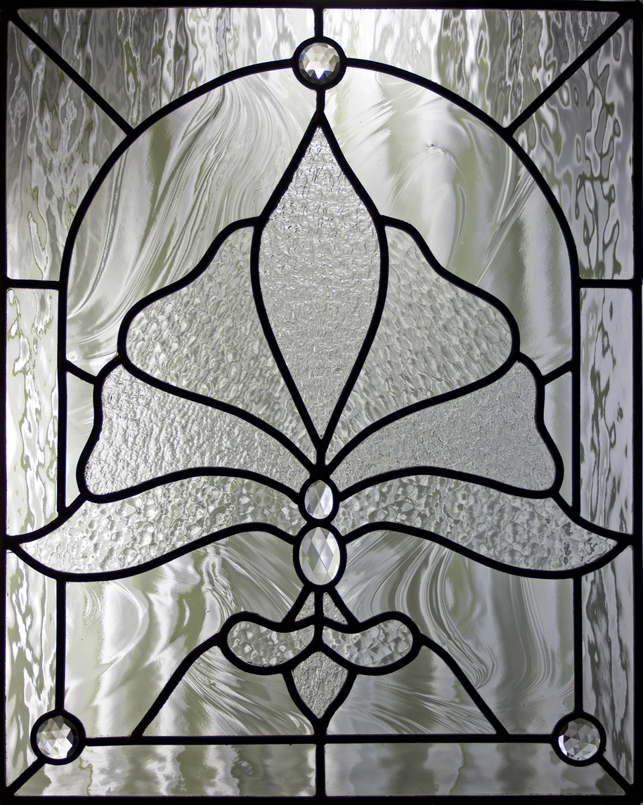Clear Stained Glass Window Panel