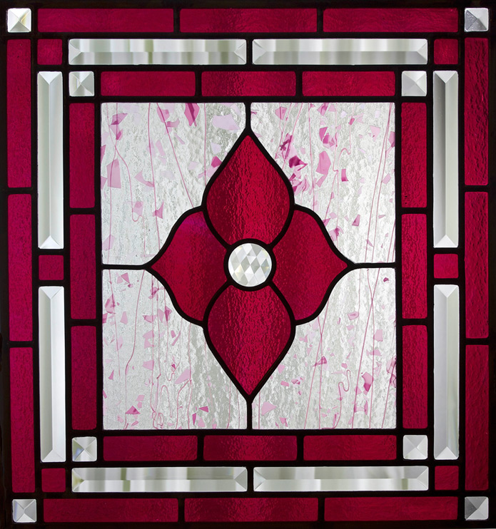 Cranberry-Flower-Stained-Glass-Panel