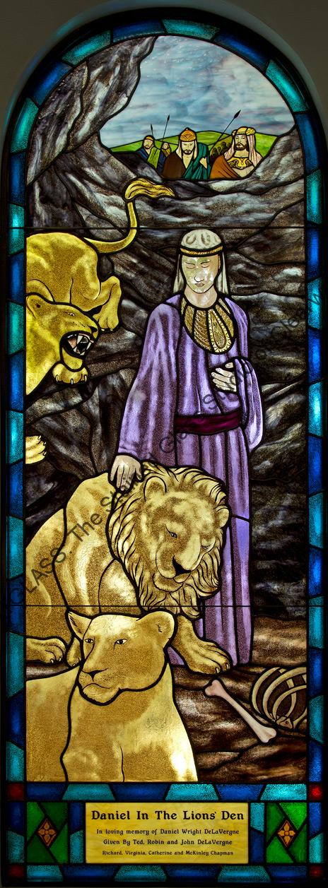 Daniel In The Lions Den Stained Glass Church Window