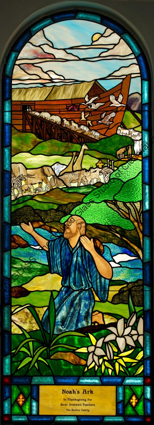 Noahs Ark Stained Glass Church Window Tampa Florida