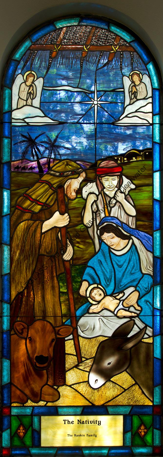The Nativity Stained Glass Church Window Tampa Florida