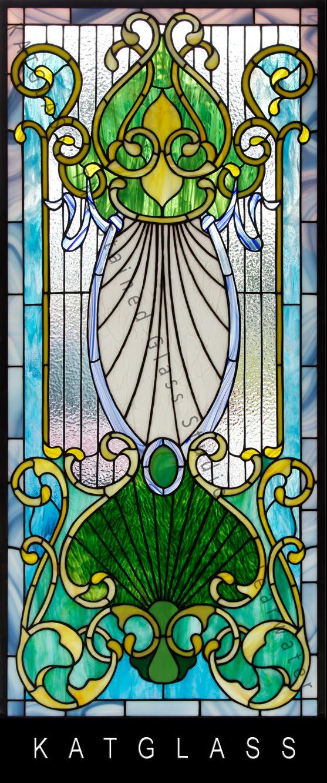 Victorian-Design-Stained-Glass-Door-water