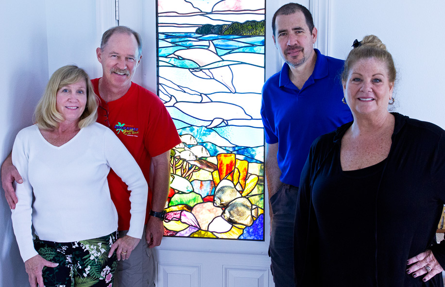 Clearwater-beach-Stained-Glass-Dolphine-Door-05