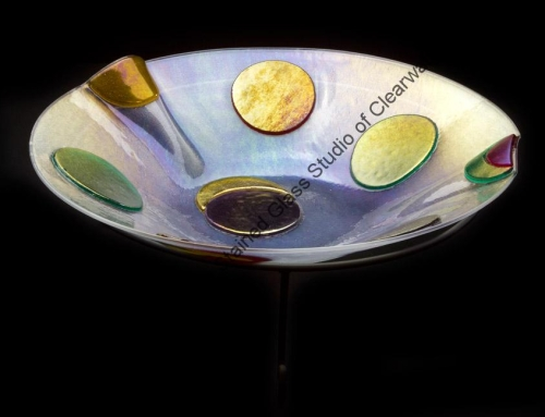 Clear Spotted Fused Glass Bowl Largo Florida