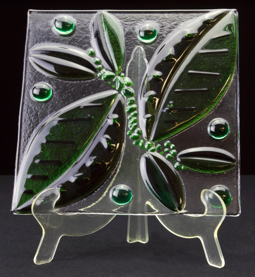 Fused Glass Leaf Plate Tile Tampa Florida