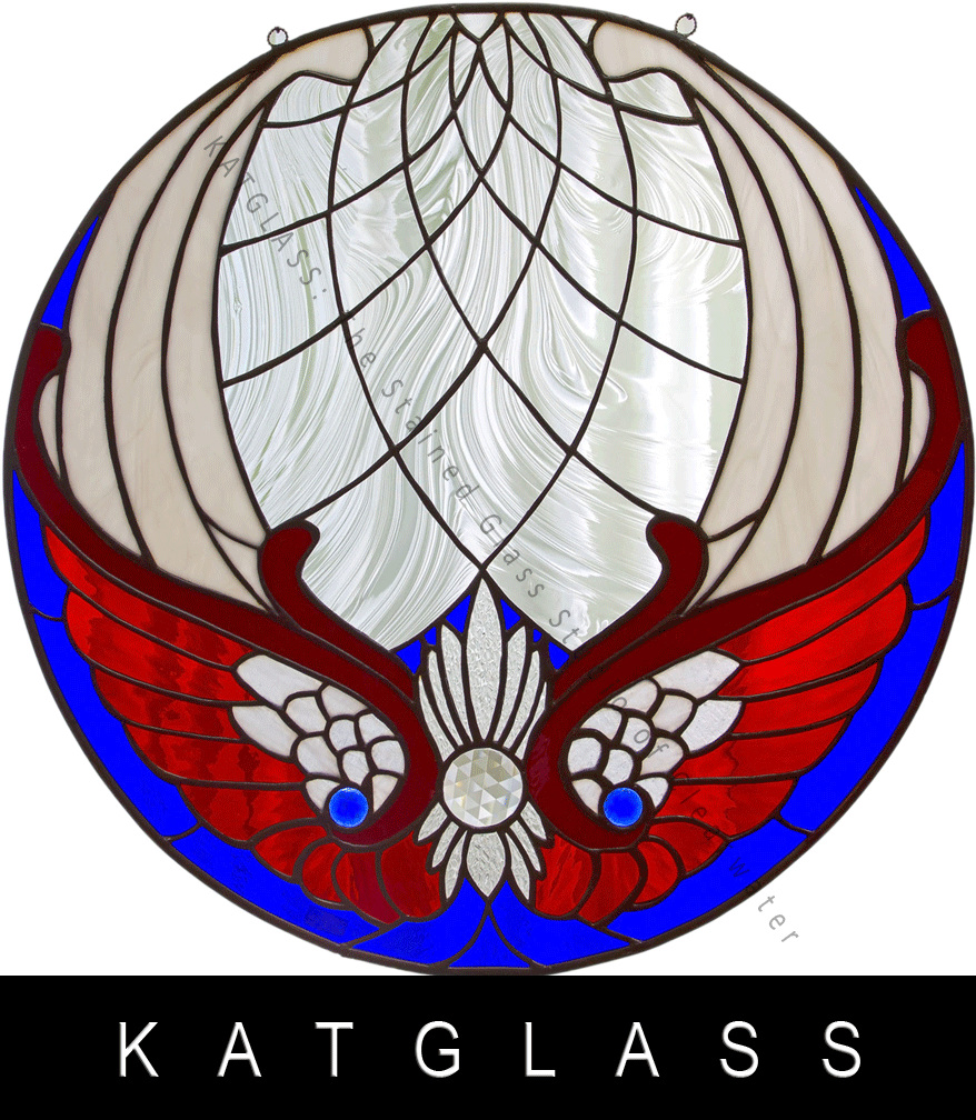 Patriotic Stained Glass Window Panel