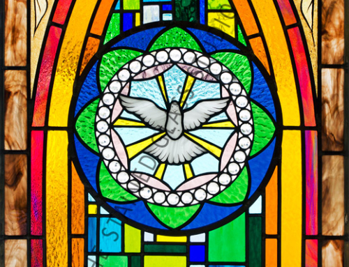 The Holy Spirit Stained Glass Church Window Tarpon Springs