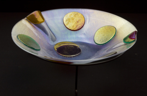Spotted-Fused-Glass-Bowl