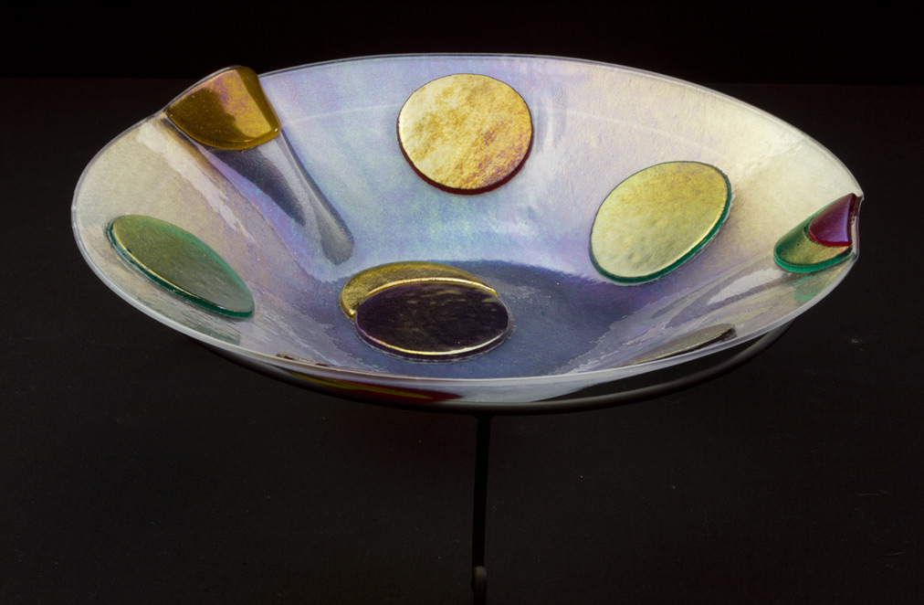 Spotted Fused Glass Bowl
