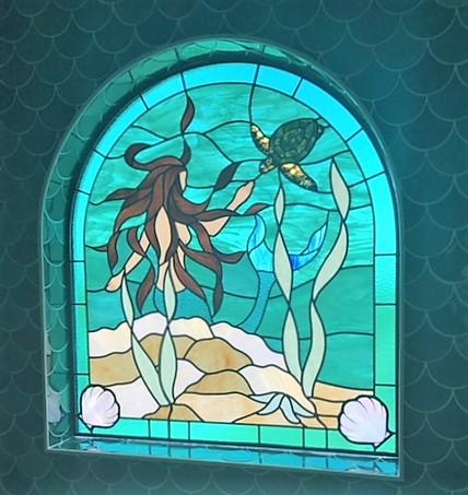 mermaid and turtle